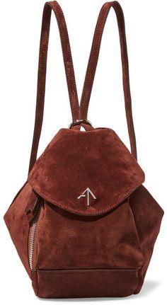 f8301da4a2d8 Manu Atelier - Fernweh Mini Suede Backpack - Burgundy Brown Backpacks