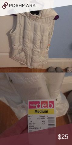 White Vest new with tags. never worn Jackets & Coats Vests