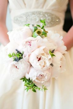 i love peonies but the detailing on the dress is to die for.