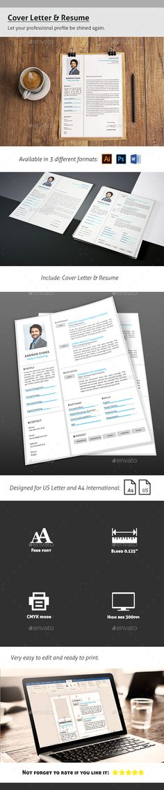 Infographic resume template - Create an awesome resume, cover - cover for a resume