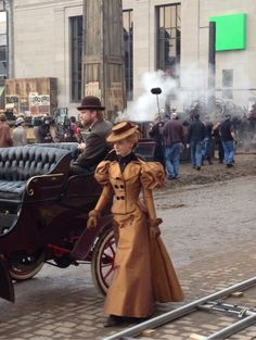 "On the set of the 2015 Del Toro movie ""Crimson Peak"" starring Mia Wasikowska and Jessica Chastain."