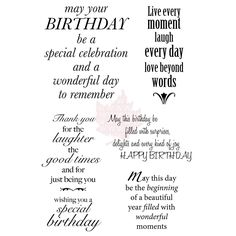 190 best card sentiments birthday images on pinterest in 2018 woodware clear stamp set delightful verse overstock shopping big discounts on clear m4hsunfo