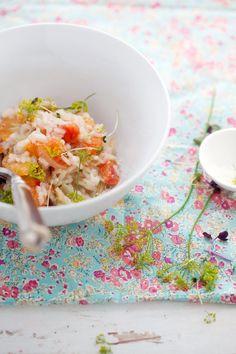 fennel blood orange risotto