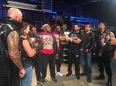 The Club, The New Day And The Shield Meet Backstage At WWE TTTT