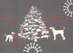 Dog themed christmas fabric!