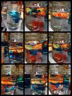 "'Fireworks' in jars - from Rachel ("",)"