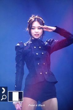 © paint it black Blackpink Outfits, Stage Outfits, Fashion Outfits, Kpop Girl Groups, Korean Girl Groups, Kpop Girls, Blackpink Jennie, Kpop Mode, Outfits Pantalon Negro
