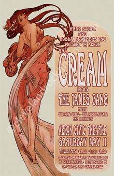 Cream / James Gang 1968 Cleveland