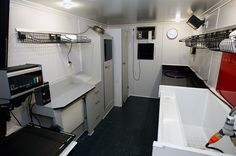 Darkroom in a caravan