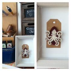 Broche en tapisserie  Octopus#2  *Une pâquerette dans les cheveux*
