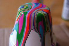 DIY: pour paint pots