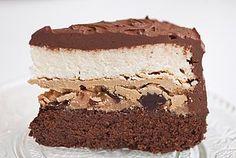 Caramel Peanut Butter Chocolate Cake Cheesecake