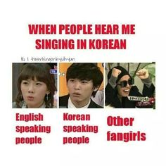 Because they're the only other people who might possibly understand whatever you're singing lol