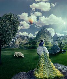 Photoshop excersise by Viktor Bezdek, via Behance