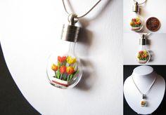 Miniature Origami Tulips by Paper-Peaches.deviantart.com