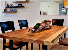 Rustique table salle a manger en bois massif