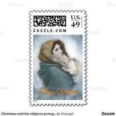 Christmas nativity religious postage stamp