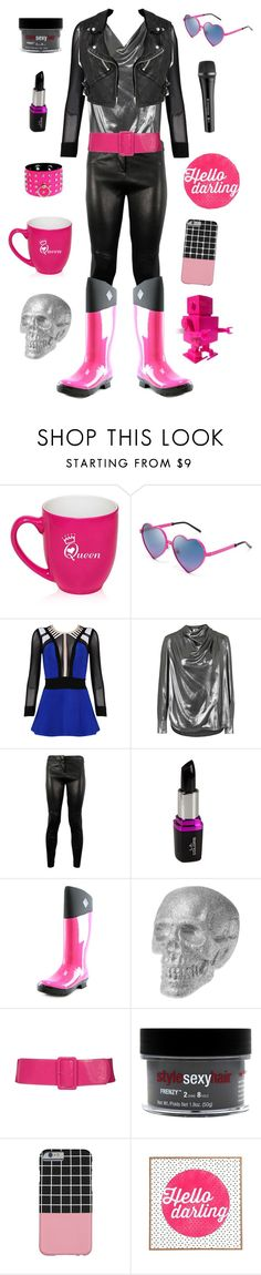 """""""Mettaton-Undertale"""" by conquistadorofsorts ❤ liked on Polyvore featuring Wildfox, Posh Girl, Unique, Sennheiser, A.L.C., The Original Muck Boot Company, Burberry, Sexy Hair, DENY Designs and GALA"""