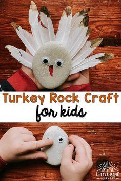 Turkey Rock Craft for Kids • Little Pine Learners