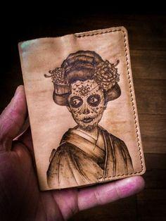 Обложка для паспорта (дама в кимоно)