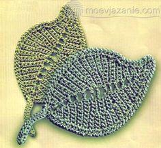 Плотный листочек, связанный крючком | MoeVjazanie