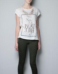 zara t-shirts for women