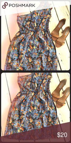 One Shoulder Floral Mini DRESS🎈 One Shoulder Floral Mini🎈 Dresses Mini