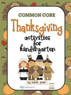 Thanksgiving Activities for Kindergarten with ELA & Math C