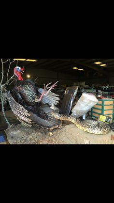 Turkey & snake mount