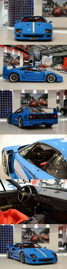 1992 Ferrari F40 / 17-460 / blue / Italy