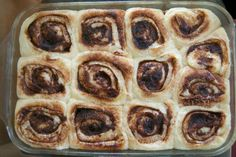 Cinnamon Rolls with Vanilla Bean Cream Cheese Frosting - 365 Days of Baking