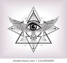 Sacred geometry with egypt symbol. Wings and all seeing eye.Vision of God Providence. Third Eye Tattoos, All Seeing Eye Tattoo, Tattoo Drawings, Body Art Tattoos, Sleeve Tattoos, Daddy Tattoos, Tattoos For Guys, Horus Tattoo, Horoscope Tattoos
