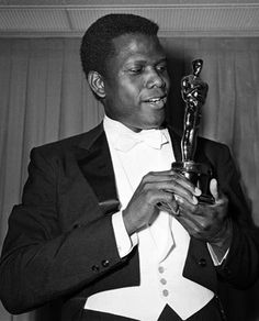 Actor Sidney Poitier made film history on April 13, 1964, when he became the first black man to win an Oscar for best actor.