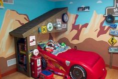 Garage loft bed do it yourself home projects from ana white ni using disneys art of animation hotel in orlando for inspiration the garage was framed by using two small shed trusses and a bookcase for the wall solutioingenieria Choice Image