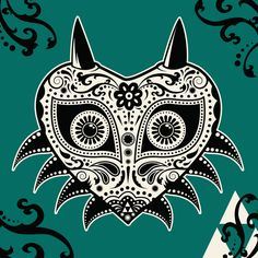 Majora's Mask Day of the Dead Art Print Love this! Would make a fab tattoo