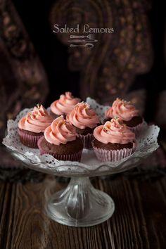 Chocolate cupcakes with Swiss Meringue Buttercream
