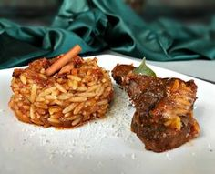 Greek Recipes, Chicken Wings, Baked Potato, Grains, Food And Drink, Rice, Potatoes, Meat, Baking