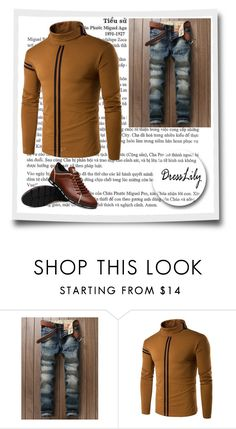 """""""Dresslily # 6"""" by zbanapolyvore ❤ liked on Polyvore featuring men's fashion and menswear"""