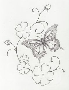 Flowers & Butterfly - love this -