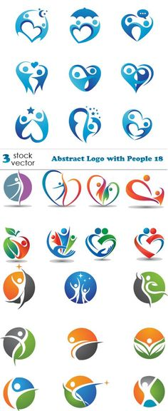 Vectors - Abstract Logo with People 18