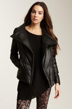 Muubaa Lenine Down Leather Jacket on HauteLook