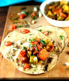 Curry-Glazed Carrot Tofu Tacos
