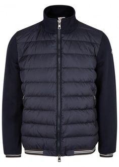 a32d50e7bd1 Moncler Navy shell-front cotton sweatshirt – Navy. Moncler Jacket Mens  Cheap