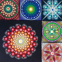 Original Red Mandala Painting on Canvas by CreateAndCherish