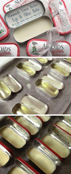 DIY Lemon Butter Lip & Skin Balm in Altoids Tins | Click Pic for 24 DIY Christmas Gifts for Teen Girls | Handmade Gift Ideas for Teen Girls