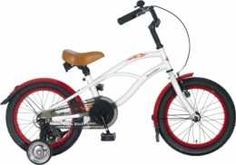 BeachCruiser 16 inch Wit kinderfiets