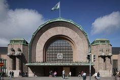 Helsinki Central Railway Station, Finland (1909-19) | Eliel Saarinen