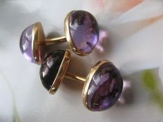 Riker Brothers Victorian Amethyst Cuff Links from inspiredbynanny on Ruby Lane