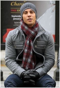 Scarf, beanie and jacket – perfect for winters!