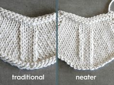 Do your k2tog's look neater than your ssk's? Depending on how you knit, this may neaten up your decrease stitches — give it a try!